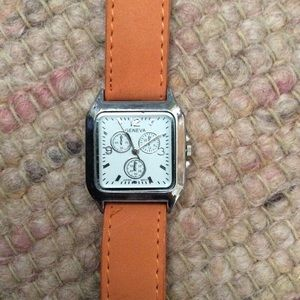 Geneva Leather Watch Orange